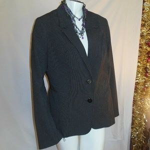 Fashion Bug Pinstriped Suit Coat Size 16 LN